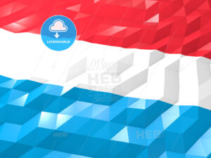 Flag of Luxembourg 3D Wallpaper Illustration - HEBSTREITS Sketches