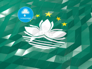 Flag of Macao 3D Wallpaper Illustration - HEBSTREITS Sketches