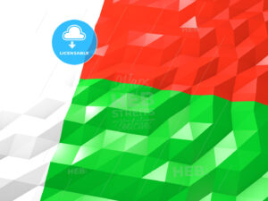 Flag of Madagascar 3D Wallpaper Illustration - HEBSTREITS Sketches