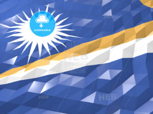 Flag of Marshall Islands 3D Wallpaper Illustration - HEBSTREITS Sketches