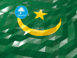 Flag of Mauritania 3D Wallpaper Illustration - HEBSTREITS Sketches