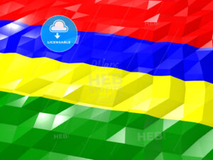 Flag of Mauritius 3D Wallpaper Illustration - HEBSTREITS Sketches