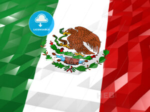 Flag of Mexico 3D Wallpaper Illustration - HEBSTREITS Sketches