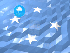 Flag of Micronesia 3D Wallpaper Illustration - HEBSTREITS Sketches