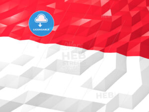 Flag of Monaco 3D Wallpaper Illustration - HEBSTREITS Sketches