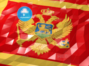 Flag of Montenegro 3D Wallpaper Illustration - HEBSTREITS Sketches