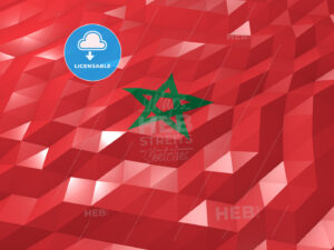 Flag of Morocco 3D Wallpaper Illustration - HEBSTREITS Sketches