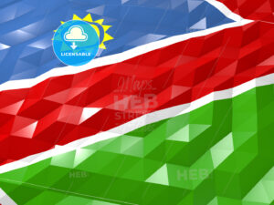 Flag of Namibia 3D Wallpaper Illustration - HEBSTREITS Sketches