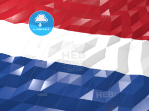 Flag of Netherlands 3D Wallpaper Illustration - HEBSTREITS Sketches