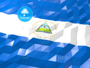 Flag of Nicaragua 3D Wallpaper Illustration - HEBSTREITS Sketches