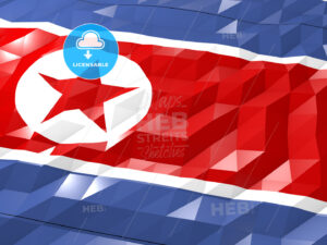 Flag of North Korea 3D Wallpaper Illustration - HEBSTREITS Sketches