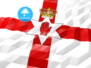 Flag of Northern Ireland 3D Wallpaper Illustration - HEBSTREITS Sketches