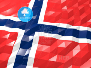 Flag of Norway 3D Wallpaper Illustration - HEBSTREITS Sketches