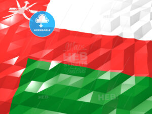 Flag of Oman 3D Wallpaper Illustration - HEBSTREITS Sketches