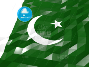 Flag of Pakistan 3D Wallpaper Illustration - HEBSTREITS Sketches