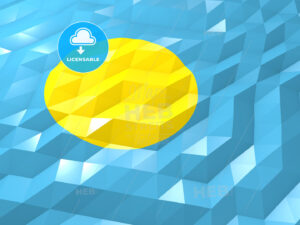 Flag of Palau 3D Wallpaper Illustration - HEBSTREITS Sketches