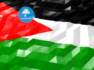 Flag of Palestine 3D Wallpaper Illustration - HEBSTREITS Sketches