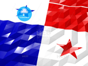 Flag of Panama 3D Wallpaper Illustration - HEBSTREITS Sketches