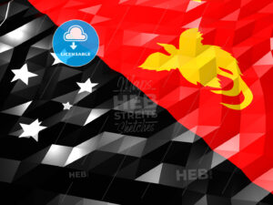 Flag of Papua New Guinea 3D Wallpaper Illustration - HEBSTREITS Sketches