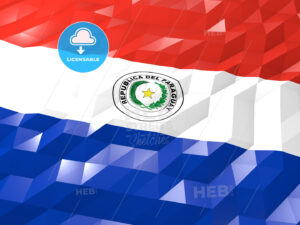 Flag of Paraguay 3D Wallpaper Illustration - HEBSTREITS Sketches