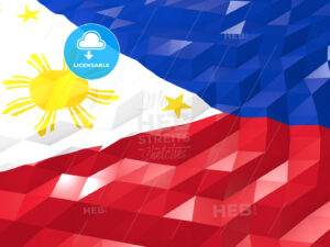 Flag of Philippines 3D Wallpaper Illustration - HEBSTREITS Sketches