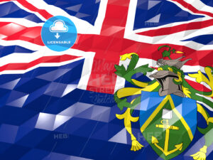 Flag of Pitcairn 3D Wallpaper Illustration - HEBSTREITS Sketches