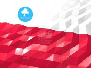 Flag of Poland 3D Wallpaper Illustration - HEBSTREITS Sketches
