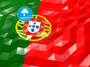 Flag of Portugal 3D Wallpaper Illustration - HEBSTREITS Sketches