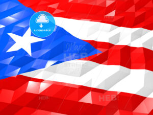 Flag of Puerto Rico 3D Wallpaper Illustration - HEBSTREITS Sketches