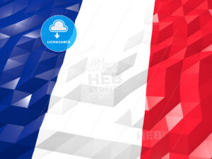 Flag of Réunion 3D Wallpaper Illustration - HEBSTREITS Sketches