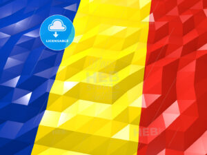 Flag of Romania 3D Wallpaper Illustration - HEBSTREITS Sketches