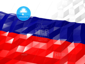 Flag of Russian Federation 3D Wallpaper Illustration - HEBSTREITS Sketches