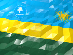 Flag of Rwanda 3D Wallpaper Illustration - HEBSTREITS Sketches