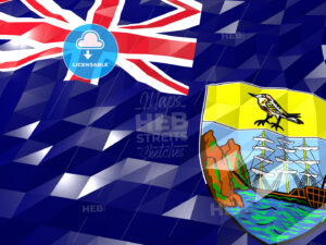 Flag of Saint Helena, Ascension and Tristan da Cunha 3D Wallpape - HEBSTREITS Sketches