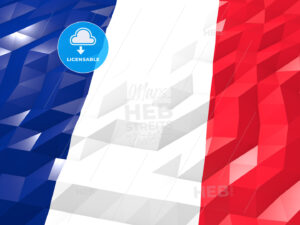 Flag of Saint Pierre and Miquelon 3D Wallpaper Illustration - HEBSTREITS Sketches