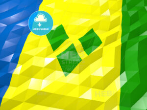 Flag of Saint Vincent and the Grenadines 3D Wallpaper Illustrati - HEBSTREITS Sketches