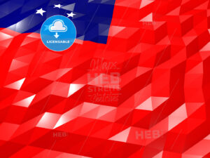 Flag of Samoa 3D Wallpaper Illustration - HEBSTREITS Sketches