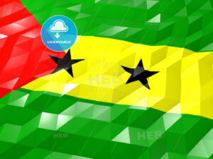 Flag of Sao Tome and Principe 3D Wallpaper Illustration - HEBSTREITS Sketches