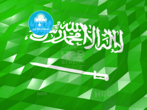 Flag of Saudi Arabia 3D Wallpaper Illustration - HEBSTREITS Sketches