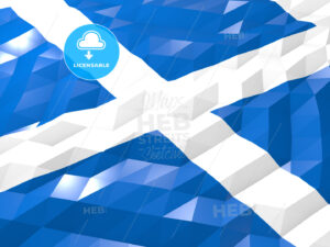 Flag of Scotland 3D Wallpaper Illustration - HEBSTREITS Sketches