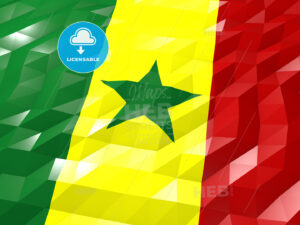 Flag of Senegal 3D Wallpaper Illustration - HEBSTREITS Sketches