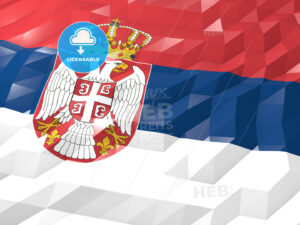Flag of Serbia 3D Wallpaper Illustration - HEBSTREITS Sketches