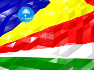 Flag of Seychelles 3D Wallpaper Illustration - HEBSTREITS Sketches