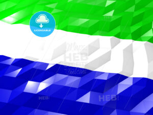 Flag of Sierra Leone 3D Wallpaper Illustration - HEBSTREITS Sketches