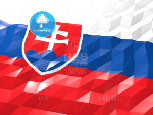 Flag of Slovakia 3D Wallpaper Illustration - HEBSTREITS Sketches