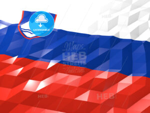 Flag of Slovenia 3D Wallpaper Illustration - HEBSTREITS Sketches