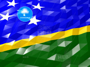 Flag of Solomon Islands 3D Wallpaper Illustration - HEBSTREITS Sketches