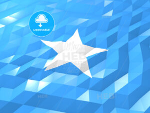 Flag of Somalia 3D Wallpaper Illustration - HEBSTREITS Sketches