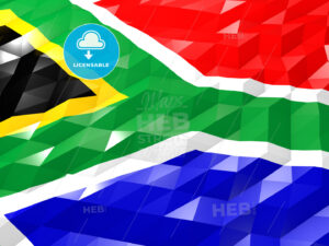 Flag of South Africa 3D Wallpaper Illustration - HEBSTREITS Sketches