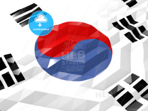 Flag of South Koreo 3D Wallpaper Illustration - HEBSTREITS Sketches